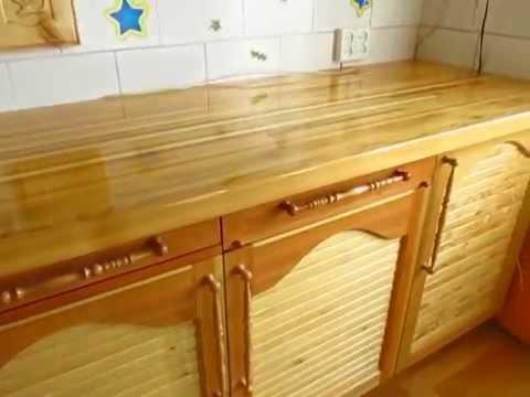 Кухня из массива своими руками видео
